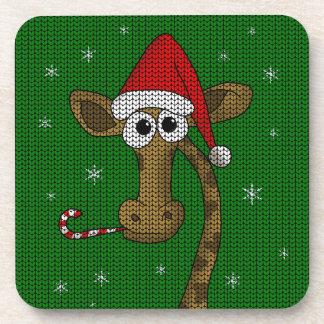 Christmas Giraffe Coaster