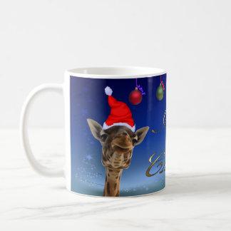 Christmas Giraffe Coffee Mug