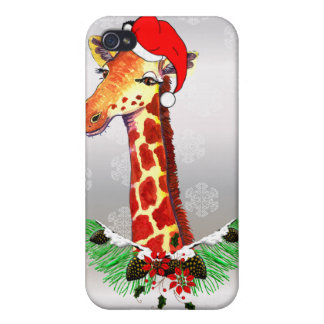 Christmas Giraffe Cover For iPhone 4