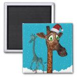 Christmas Giraffe Magnetite Fridge Magnets