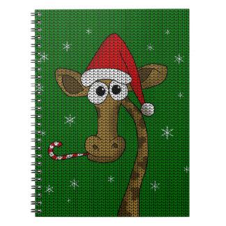 Christmas Giraffe Notebook