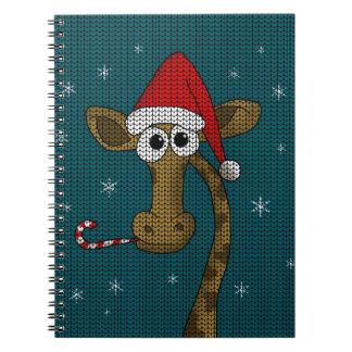 Christmas Giraffe Notebooks