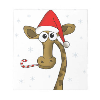 Christmas giraffe notepad