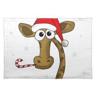 Christmas giraffe placemat