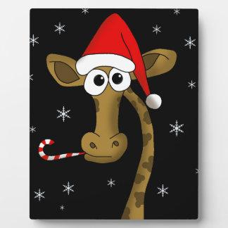 Christmas giraffe plaque