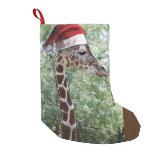 Christmas Giraffe Small Christmas Stocking