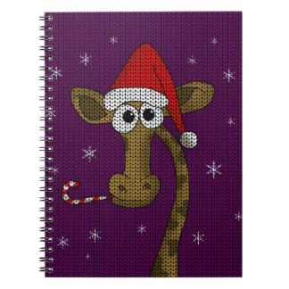 Christmas Giraffe Spiral Notebook
