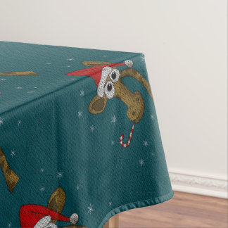 Christmas Giraffe Tablecloth