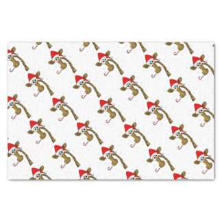 Christmas giraffe tissue paper