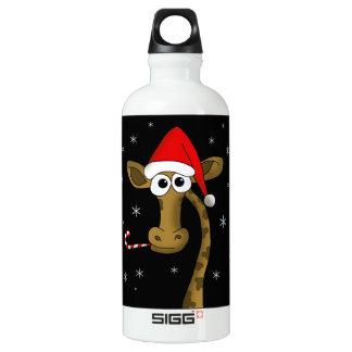 Christmas giraffe water bottle