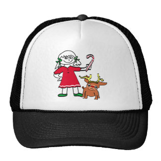 Christmas Girl Trucker Hat