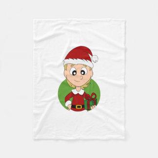 Christmas girl cartoon fleece blanket