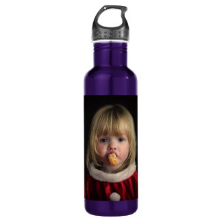 Christmas girl - christmas child - cute girl 710 ml water bottle