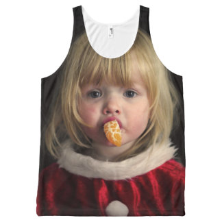 Christmas girl - christmas child - cute girl All-Over print singlet