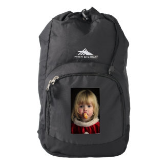 Christmas girl - christmas child - cute girl backpack