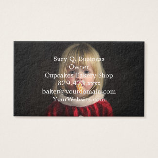 Christmas girl - christmas child - cute girl business card