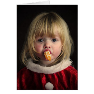 Christmas girl - christmas child - cute girl card