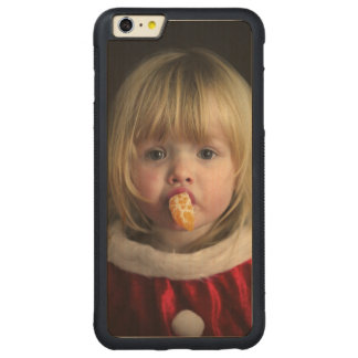 Christmas girl - christmas child - cute girl carved maple iPhone 6 plus bumper case
