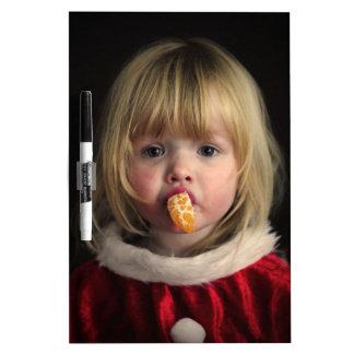 Christmas girl - christmas child - cute girl dry erase board