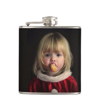 Christmas girl - christmas child - cute girl hip flask