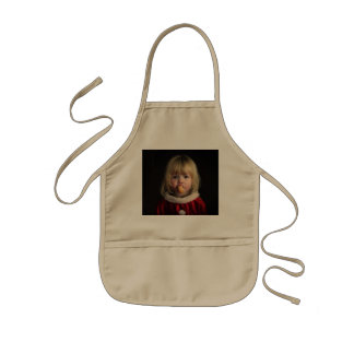 Christmas girl - christmas child - cute girl kids apron