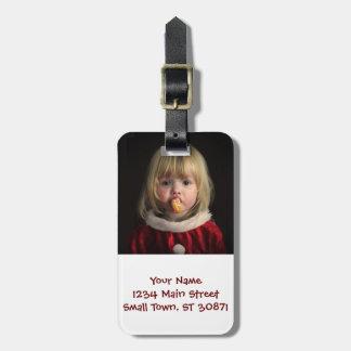 Christmas girl - christmas child - cute girl luggage tag