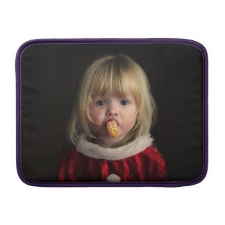 Christmas girl - christmas child - cute girl sleeve for MacBook air