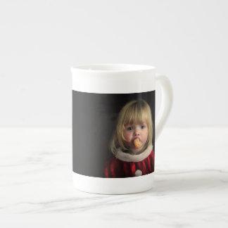Christmas girl - christmas child - cute girl tea cup