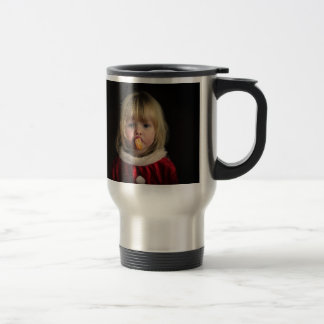 Christmas girl - christmas child - cute girl travel mug
