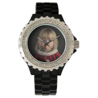 Christmas girl - christmas child - cute girl watch