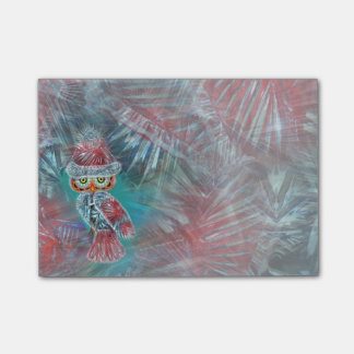 Christmas Glamour Fashion Santa Owl Post-it Notes
