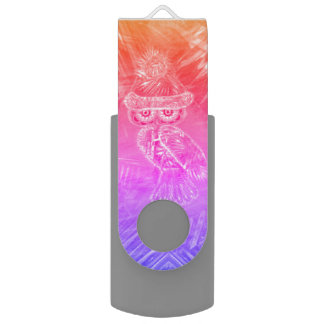 Christmas Glamour Fashion Santa Owl USB FlashDrive USB Flash Drive