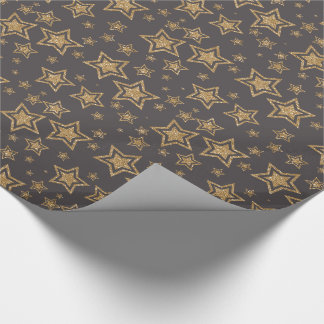 Christmas Glitter Stars Wrapping Paper