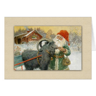 Christmas Goat God Jul Julbocken and Cookie Card