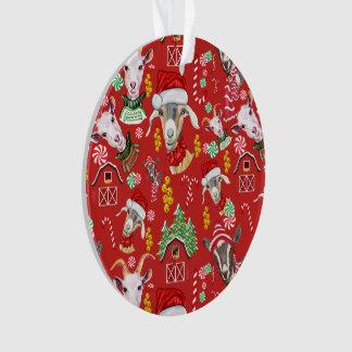 Christmas GOATS Candy and Jingle Bells GetYerGoat™ Ornament