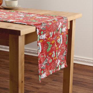 Christmas GOATS Candy and Jingle Bells GetYerGoat™ Short Table Runner