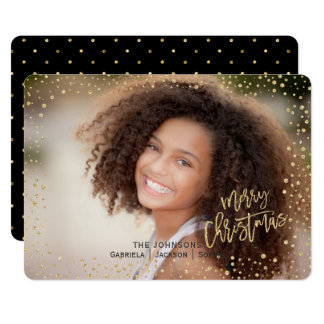 Christmas | Gold Dots | Landscape Photo Card