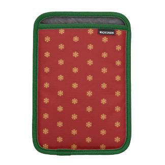 Christmas gold snowflake pattern, customizable BG iPad Mini Sleeve