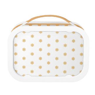 Christmas gold snowflake pattern, customizable BG Lunch Box