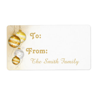 Christmas Gold White Ball Ornaments