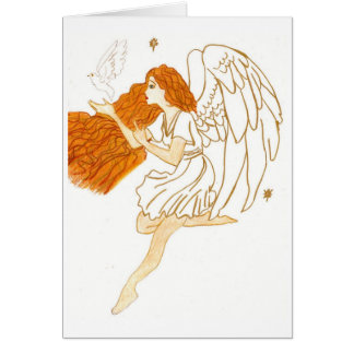 Christmas golden angel card