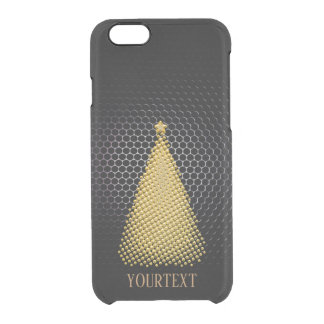 Christmas Golden classy fashion personalised Clear iPhone 6/6S Case