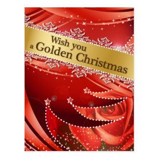 Christmas - Golden Collection Postcard