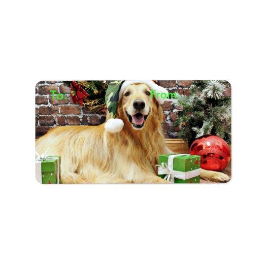 Christmas - Golden Retriever - Conor Label