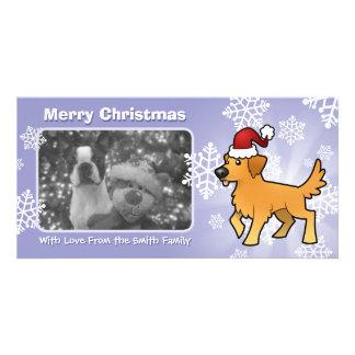 Christmas Golden Retriever Custom Photo Card