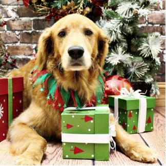 Christmas - Golden Retriever - Ginger Photo Sculptures