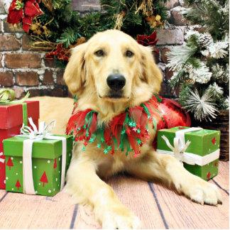 Christmas - Golden Retriever - J.J. Photo Cutout