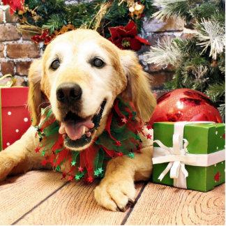 Christmas - Golden Retriever - Jazzy Photo Sculpture