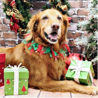 Christmas - Golden Retriever - Lexie Photo Sculptures