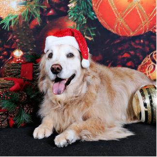Christmas - Golden Retriever - Lucy Standing Photo Sculpture
